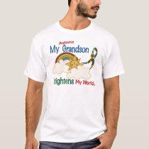 Autism BRIGHTENS MY WORLD 1 Grandson T-Shirt