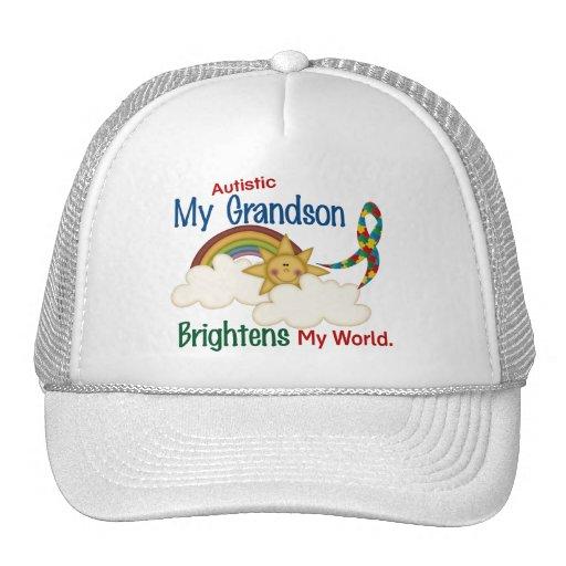 Autism BRIGHTENS MY WORLD 1 Grandson Trucker Hat