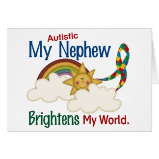 Autism BRIGHTENS MY WORLD 1 Nephew Card