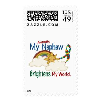 Autism BRIGHTENS MY WORLD 1 Nephew Postage