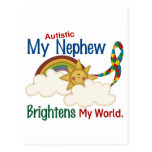Autism BRIGHTENS MY WORLD 1 Nephew Postcard