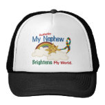 Autism BRIGHTENS MY WORLD 1 Nephew Trucker Hat