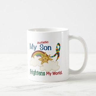 Autism BRIGHTENS MY WORLD 1 Son Coffee Mug