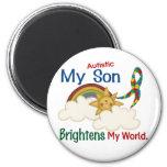 Autism BRIGHTENS MY WORLD 1 Son Refrigerator Magnets