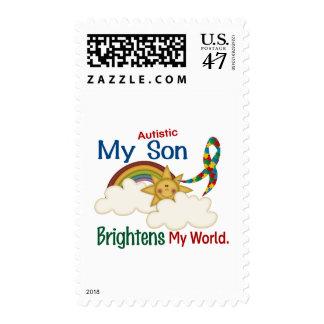 Autism BRIGHTENS MY WORLD 1 Son Postage