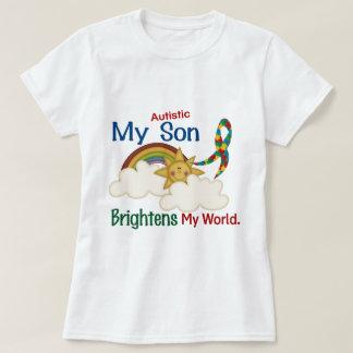Autism BRIGHTENS MY WORLD 1 Son T-shirt