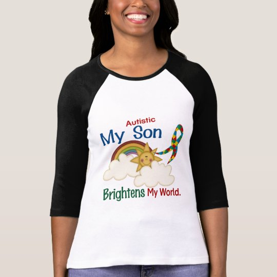 Autism BRIGHTENS MY WORLD 1 Son T-Shirt
