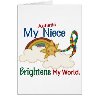 Autism BRIGHTENS MY WORLD Niece Card