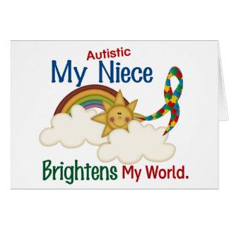 Autism BRIGHTENS MY WORLD Niece Cards