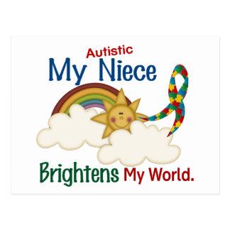 Autism BRIGHTENS MY WORLD Niece Postcard