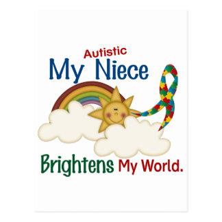 Autism BRIGHTENS MY WORLD Niece Post Card