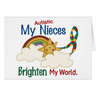 Autism BRIGHTENS MY WORLD Nieces Card