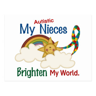 Autism BRIGHTENS MY WORLD Nieces Post Card