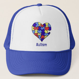 Autism Broken Heart Trucker Hat