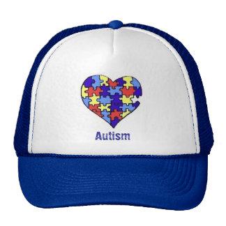 Autism Broken Heart Trucker Hat