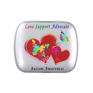 Autism Butterflies in Hearts Candy Tin