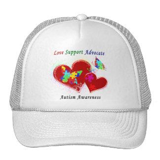 Autism Butterflies in Hearts Trucker Hat