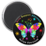 Autism Butterfly 2 Inch Round Magnet