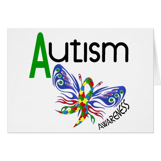 AUTISM Butterfly 3.1 Card