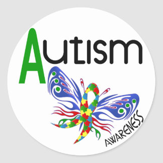 AUTISM Butterfly 3.1 Classic Round Sticker
