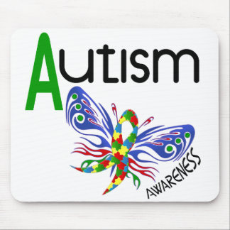 AUTISM Butterfly 3 1 Mouse Pads