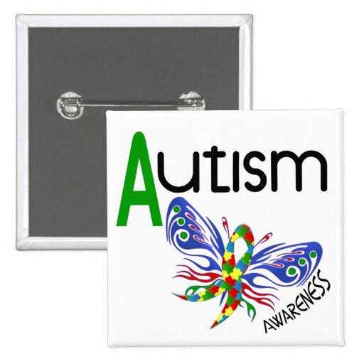 AUTISM Butterfly 3.1 Pinback Button