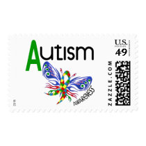AUTISM Butterfly 3.1 Postage