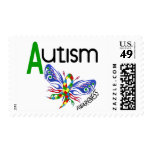AUTISM Butterfly 3.1 Stamps