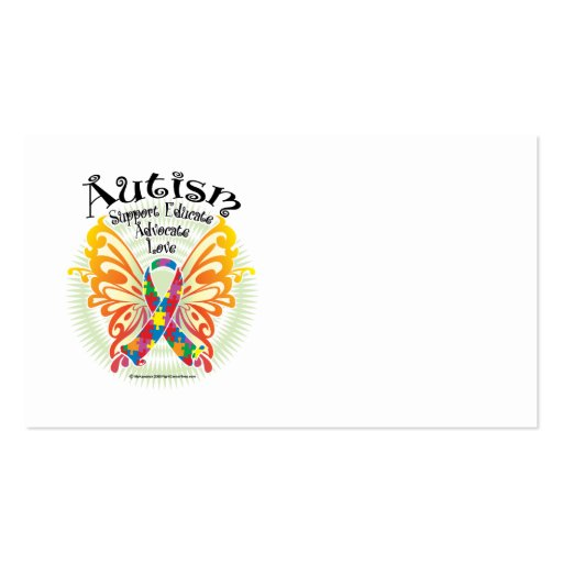 Autism Butterfly 3 Business Card Templates