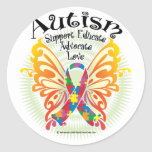 Autism Butterfly 3 Classic Round Sticker