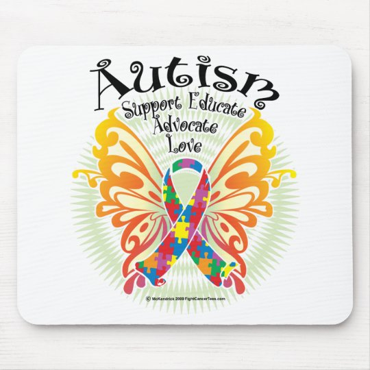 Autism Butterfly 3 Mouse Pad