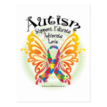 Autism Butterfly 3 Postcard