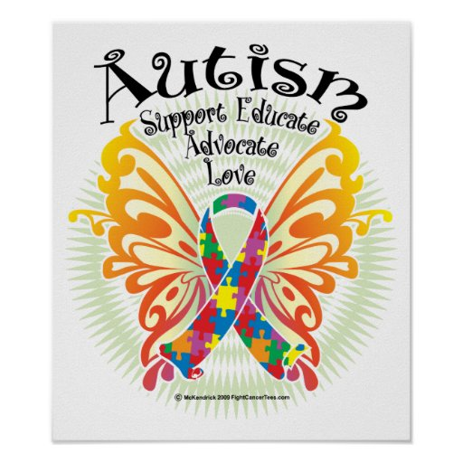 Autism Butterfly 3 Poster