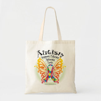 Autism Butterfly 3 Tote Bag