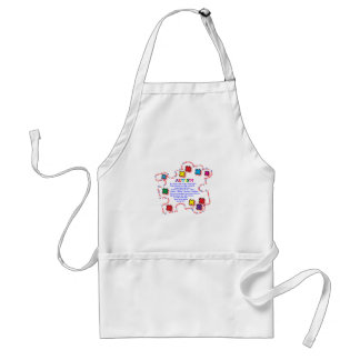 Autism Butterfly Adult Apron