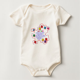 Autism Butterfly Baby Bodysuit