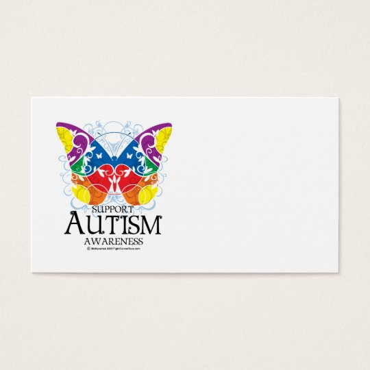 Autism Butterfly Business Card