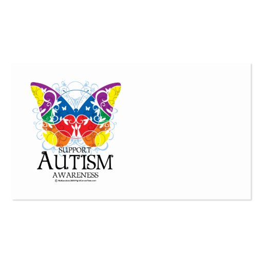 Autism Butterfly Business Card Templates