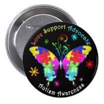 Autism Butterfly Button