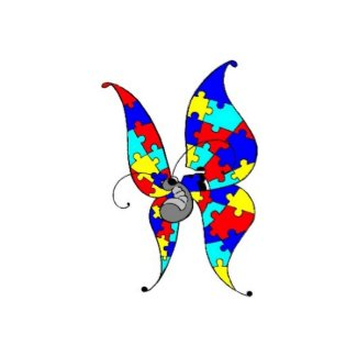 Autism Butterfly Greeting Card card