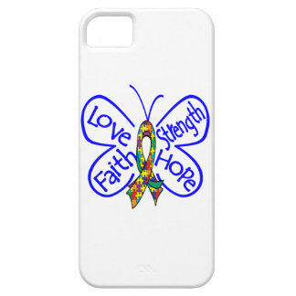 Autism Butterfly Inspiring Words iPhone 5 Cover