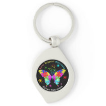 Autism Butterfly Keychain