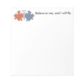 Autism Butterfly Motif Notepad