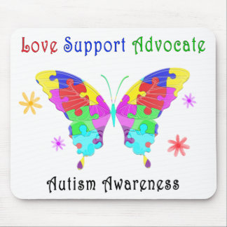 Autism Butterfly Mouse Pad