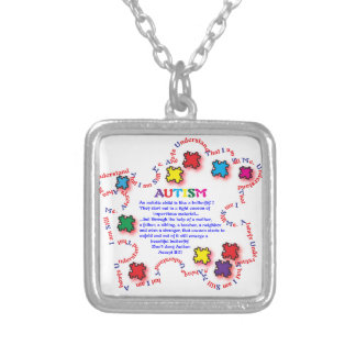 Autism Butterfly Custom Necklace