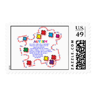 Autism Butterfly Postage