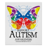 Autism Butterfly Posters