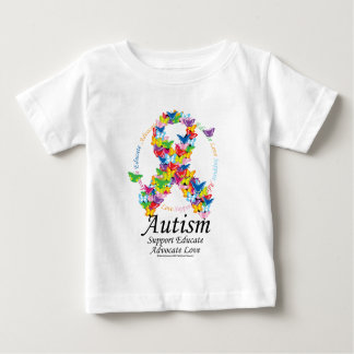 Autism Butterfly Ribbon Baby T-Shirt