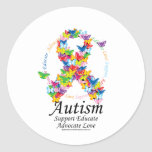 Autism Butterfly Ribbon Sticker