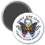 Autism Butterfly Tribal 2 Fridge Magnet